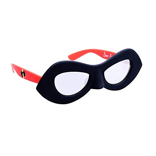 Sun-Staches Costume Sunglasses Lil' Characters Incredible Dash Party Favors UV400, Black/Red, 8'