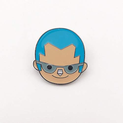 Lupovin Pin de Esmalte de Dibujos Animados de Franky Mochila Insignia de Anime Pin Decoraciones Broche de Anime de una Pieza Fans Logotipo de Anime Pin de Solapa coleccionables