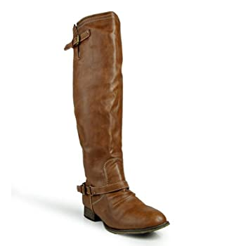 Breckelle s Outlaw-91 Women s Knee High Riding Boot,Outlaw-91 Tan 5.5