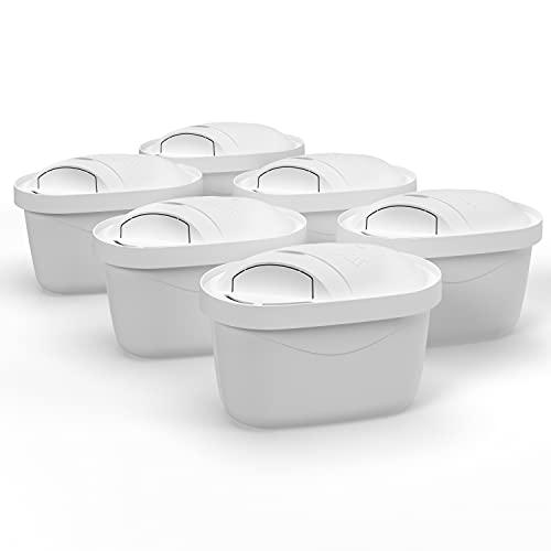 Wessper Classic Wasserfilter 6er Pack,Passend Für Britta Wasserfilter Kartuschen Maxtra Plus, BPA Frei, 4-stufiges Filtersystem