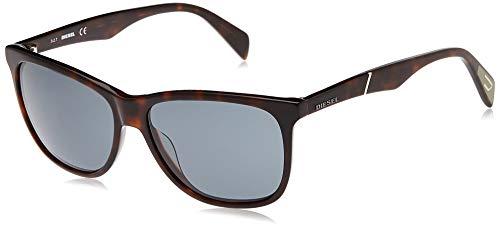 Diesel Sonnenbrille DL0222-52N-57 Rechteckig Sonnenbrille 57, Schwarz