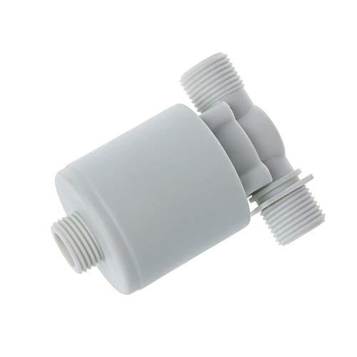 CHEdnh-Hk Válvula de Control de Nivel de Agua Válvula de Flotador válvula de Control de Torre Tanque de Nivel de Agua automático para válvula de Control de Nivel de Agua automátic (Color : White)