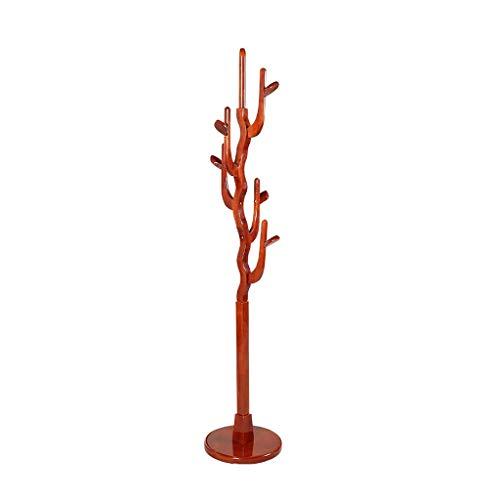 LOMJK Perchero de madera maciza, para colgar en el suelo, para muebles, ropa y...