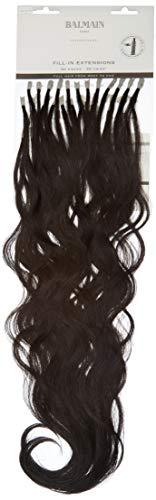 Balmain Lot de 50 extensions de cheveux humains Brun foncé, 55 cm de long, numéro 3, 0,044901 kg