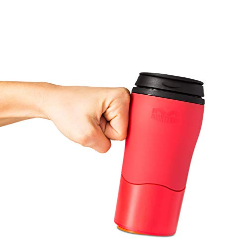 Mighty Mug Solo, Double Wall Plastic 12oz Travel Mug featuring No Spill Smartgrip Technology - Red