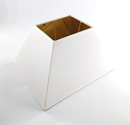 Designer Lampenschirm rechteckig konische Form Weiss