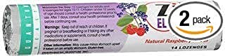 Quantum Health Thera Zinc Elderberry Lozenges Natural Raspberry Flavor - 12 Packs of 14 Each, Pack of 2
