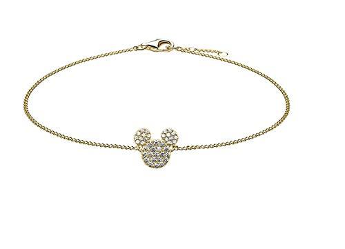 So Cosi Disney Mickey BGW-WDJ005 Women's Bracelet 925 Sterling Silver Gold-Plated Zirconia