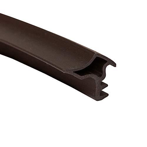 DIWARO.® Stahlzargen-Dichtung SZ021 | 5 lfm | für Innentüren und Türrahmen aus Stahl. Farbe: grau, weiß, schwarz und braun