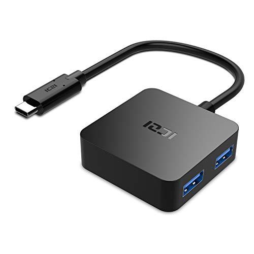 Hub USB C 4 Porte USB 3.0, ICZI Hub USB Type C (Thunderbolt 3) per i Dispositivi di USB C include il Macbook/Macbook Pro, Chromebook Pixel, Huawei Matebook (4 in 1)
