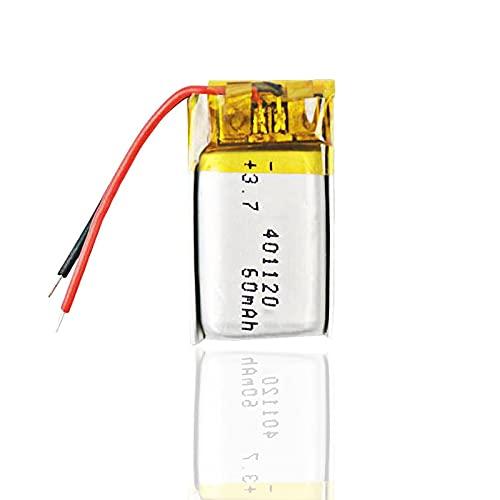 1 unids 60 mah 3.7 V 401120 batería de polímero de litio Li-Po, para auriculares Bluetooth Selfie Stick polímero Mp3 controladores remotos reloj inteligente