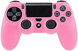 Étui rose en silicone pour manette de jeux Sony PS4
