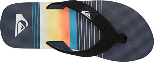 Quiksilver Men's Molokai Layback Sandal, Black/Blue/Black, 11 Medium US