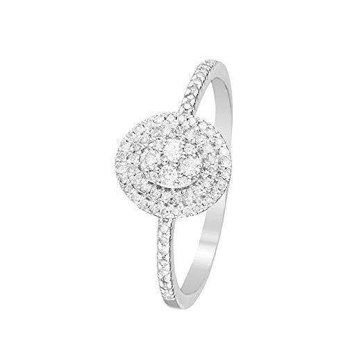 Ring van witgoud en diamanten 0,20 karaat