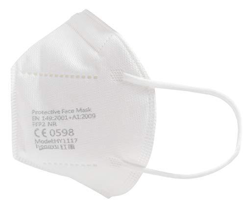 Premium Mundschutz Atemschutzmasken zertifizierte FFP2 Masken Infektionsschutz Gesichtsmaske Staubschutz Schutzmaske (20 Stück) - 5
