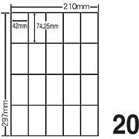 ナナクリエイト CL-22A(シンプルパック) シートカットラベル A4判 20面付 500シート入(10000片) 【ナナラベル】