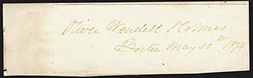 Oliver Wendell Superlatite Holmes Sr. - 12 Max 76% OFF 05 1874 Signature