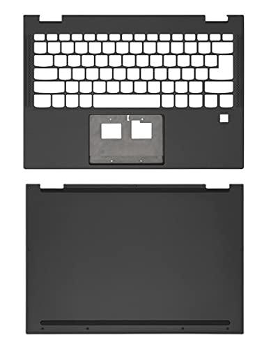 Ersatz für Lenovo IBM Yoga C630-13Q50 Laptop-Rückseitengehäuse 13,3 Zoll LCD Rückabdeckung, Handauflage, Oberschale, Chassis Bottom Case Cover Grau 5CB0S15927 (C+D)