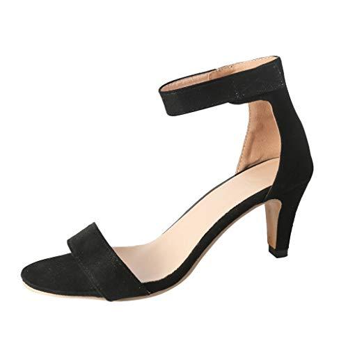 JiaMeng Damen High Heels Pumps, Sandaletten Pfennigabsatz Moderne Stiletto Schuhe Abendschuhe Brautschuhe Hochzeit Abiball Flandell Riemchensandaletten