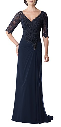 Butterfly Paradise Mother of The Bride Plus Size Dress Dark Blue
