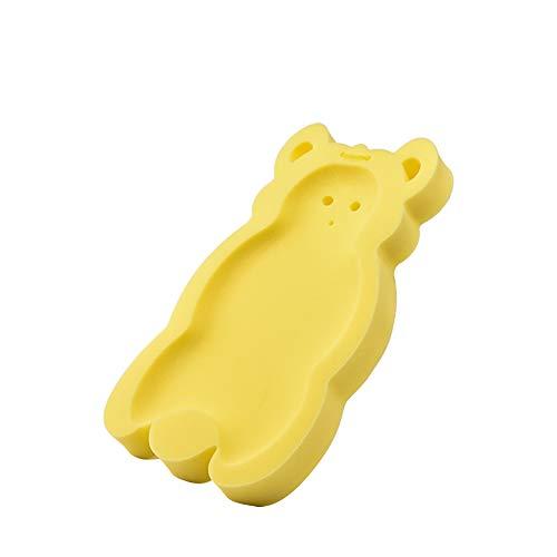 Naisicatar Amortiguador cómodo del baño del bebé Esponja Anti bacteriana y Skid Prueba Baño Mat (Amarillo) del Bonito Regalo