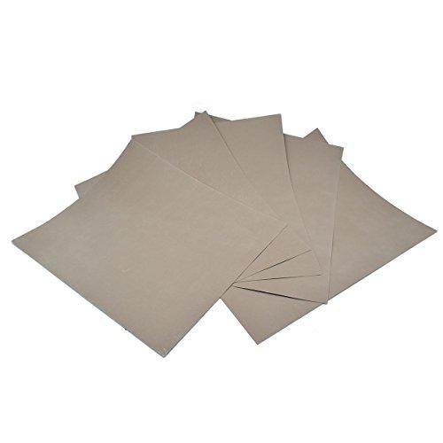 Schleifpapier, Körnung 5000, wasserdichtes Papier, nass/trocken, Silikonkarbid, 230 x 280 mm, 5 Blatt