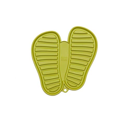 Sanni Shoo, Shoo.pad, Flexible, waschmaschinen-Feste Schuh-Abtropf-Matte, Schuhablage, Schuhabtropfschale, Abtropf- und Schmutzfang-Matte für Schuhe M (bis Schuhgrösse 41), grün