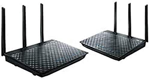ASUS RT-AC66U Dual Band WiFi Mesh Router Kit 2 Gigabit USB 3.0 Kabel/DSL/Fiber Verbindung Router/Access Point/Bridge