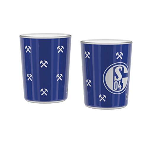 Schalke 04 FC Windlicht Hammer & Schlägel 2 er Set