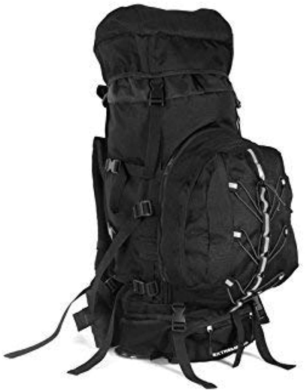 Hiking Backpack Outdoor and Indoor Large Capacity Hiking Climbing Bag 80L Outdoor Mountaineering Backpack(Black) Outdoor Rucksack