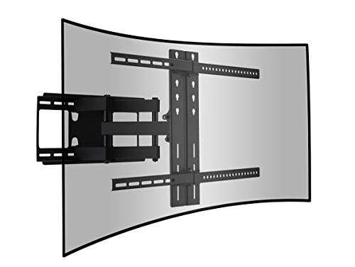 Chefway Curved and Flat TV Wall Mount Dual Articulating Arm Bracket with Full Motion Swing Out Tilt for 42-65 Inch LED LCD OLED Plasma Screen Monitor Up to 110 Lbs VESA 400x600mm, Includes HDMI Cable