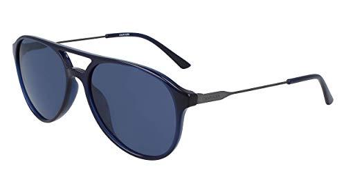 Calvin Klein EYEWEAR CK20702S gafas de sol, SUDADERA AZUL, 5817 para Hombre