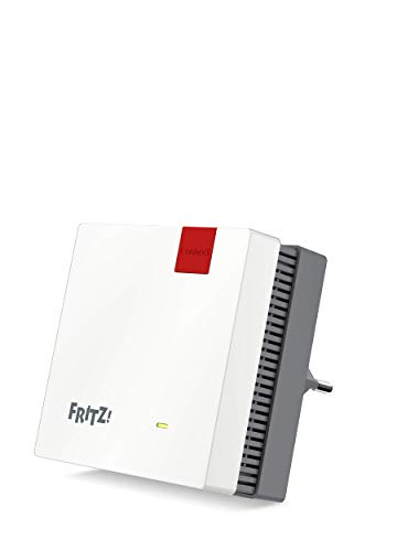 AVM FRITZ!Repeater 1200 International, AC+N WiFi signaal extender repeater dual band (400 Mbit/s bij 2,4 GHz en 866 Mbit/s bij 5 GHz), mesh, Access Point WiFi, WPS, Italiaanse interface