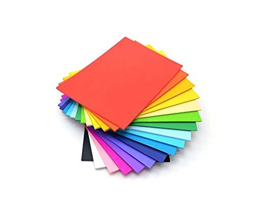 CI 31,5 x 22 x 5 cm, 80 g/mq, Confezione da 500 Pezzi, Carta Colorata, Formato A4, Multicolore