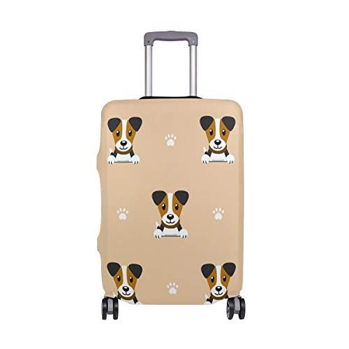 Funda de equipaje de viaje con diseño de perro de dibujos animados elástico para maleta lavable para equipaje de 18 a 32 pulgadas