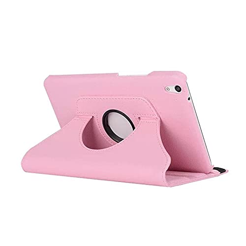 Bracket Flip Stand Leather Cover for Huawei Media Pad T1 10 T1-A21W T1-A21L T1-A23L 9.6 Inch Tablet Case 360 Rotating-Rosa