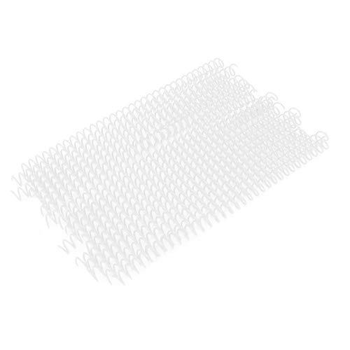 Anillo de encuadernación, 20 piezas, 30 agujeros, plástico de hojas sueltas, colorido, peine, anillo de encuadernación, anillos en espiral de resorte para papel A4, 11 mm, blanco(11mm blanco)