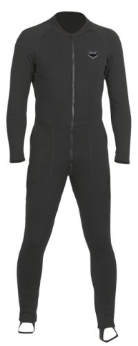 SEAC Unifleece Insulating Undergarment Dry Suit, Black, Large