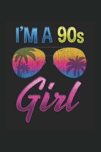 90s Girl: Retro 90er Jahre Hawaii Sonnenbrille für Mädchen Notizbuch DIN A5 120 Seiten für Notizen Zeichnungen Formeln | Organizer Schreibheft Planer Tagebuch
