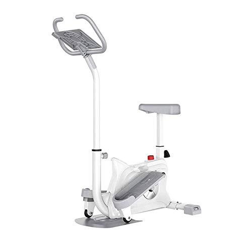 WJFXJQ Magnetic ellittica Machineith w/LCD Monitor Trainer frequenza del Polso Grips Doppio Trainer 2 in 1 Cardio Home Office Fitness Workout Macchina