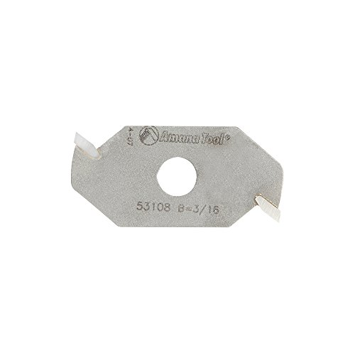 Amana Tool 53108 Slotting Cutter 2 Wing x 1-7/8 D x 3/16 CH x 5/16 Inner D