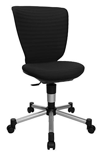 Topstar Titan Junior 3D, mitwachsender Kinderdrehstuhl, Schreibtischstuhl für Kinder & Jugendlinche, Stoff, schwarz, 45 x 45 x 100 cm
