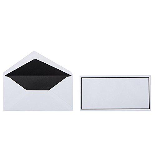 Trauerbriefumschläge mit schwarzem Rand im Format DIN lang 110 x 220 mm, Grammatur: 100 g/m², Farbe: Weiß, 25 Stück