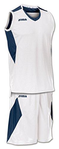 Joma Set Space Camiseta y pantalón de Baloncesto, Hombres, Blanco-Marino, XL