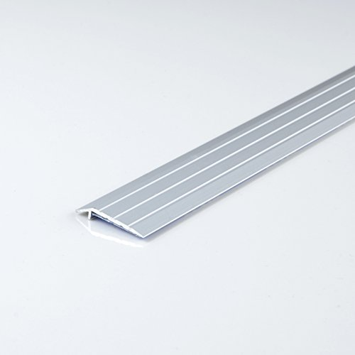 [DQ-PP] 1 x ALU PROFIL Abschlussprofil 5mm selbstklebend Farbe: silber, Länge: 100cm Teppichschiene Schweller Laminat Parkett Übergangsprofil NEU