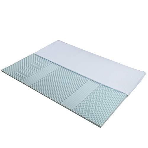 WCPQT Transpirable Durabilidad 7 Zona Colchón,4cm De Espesor Gel De Enfriamiento Viscoelástico Cómodo Tela Suave Colchón,para Adultos Niños
