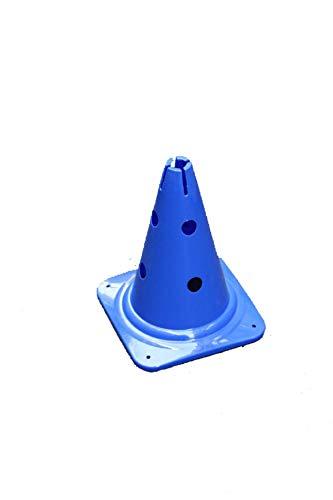 Agility Sport pour Chiens - cône avec Trous, 30 cm, Bleu - 1x MZK30b