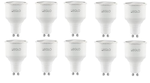 10x KHL GU10 9W Sparlampe Energiesparlampe 75mm 9 Watt Sparpack