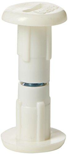 Bulk Hardware BH04786 Kast Kast Connector Bindingspost met Staal M6 (1/4 inch) Schroef voor Houten Dikte 30-35mm (1.1/4 inch - 1.3/8 inch)- Wit, Pack van 25