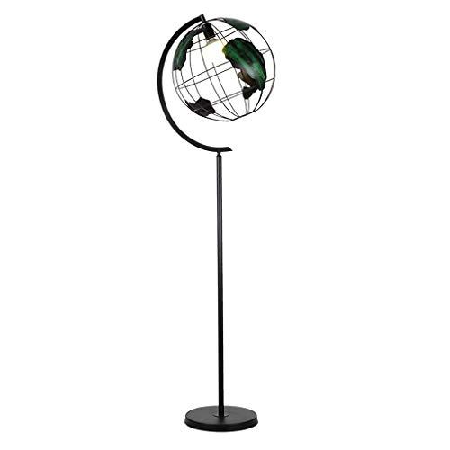 Lámpara de Pie Lámpara de pie nórdica sencilla moderna sala de estar la luz del piso de hierro forjado estudio dormitorio mesita de noche globo vertical de la lámpara de iluminación del hogar Lampara